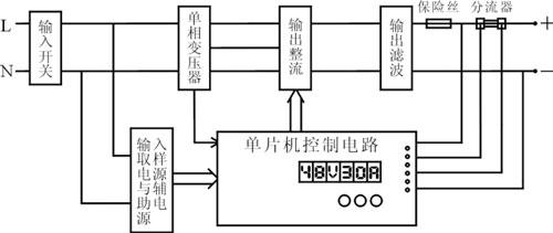 叉车智能充电机原理图